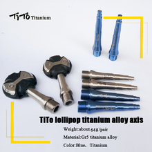 TiTo lollipop titanium alloy axis MTB road bike pedals light weight and durable cycling bicycle pedals part