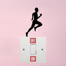 Fitness Running Fashion Decor Vinyl Wall Stickers Light Switch Stickers 5WS1438
