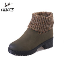 Booties female winter 2017 new warm plus velvet thick with wild female tube snow boots free shipping # 12(China)
