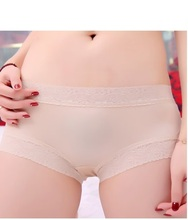 Lace Hipster Panty 100% mulberry silk two piece Lace Sexy comfort feeling fine and smooth(China)