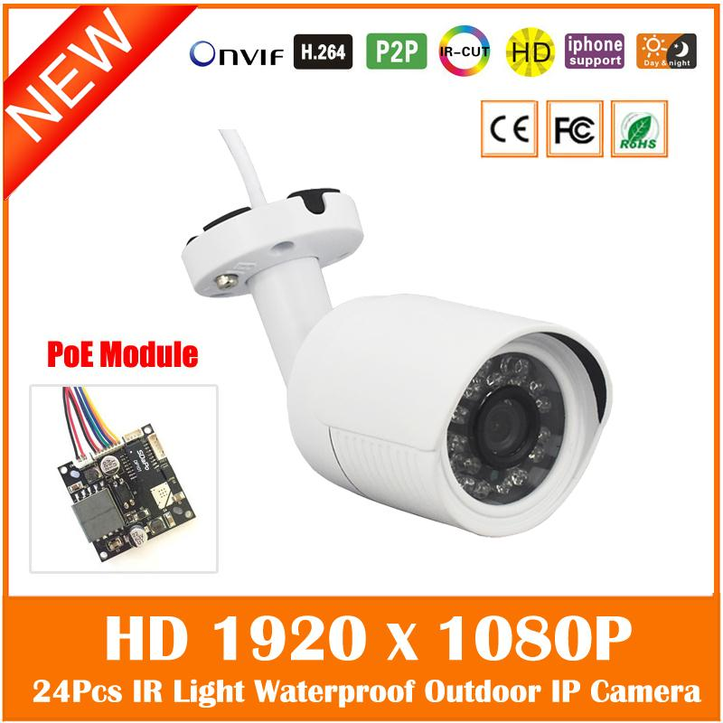 Hd 1080p 2.0mp Bullet Poe Ip Camera Outdoor Security Onvif Waterproof Night Vision 24pcs Infrared Webcam Freeshipping Hot Sale <br>
