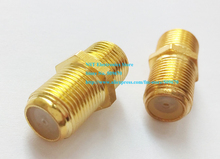 Golden Plated F Female to Female Coaxial RG6 Barrel Coax Cable Connector Coupler Adapter/Free Shipping/50PCS