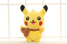 HOT NEW Quality 13CM Height 5.1' Stuffed Toy Cute Pikachu Plush Toy Doll Cat Stuffed Plush Doll , Stuffed Animal plush toy doll(China)