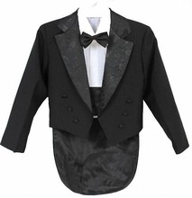 Popular Boy Wedding Suit / Boys' Tuxedo / Boy Blazers / Gentlemen Boys Suits For Weddings (Jacket + Pants + Tie + Belt + Shirt)(China)