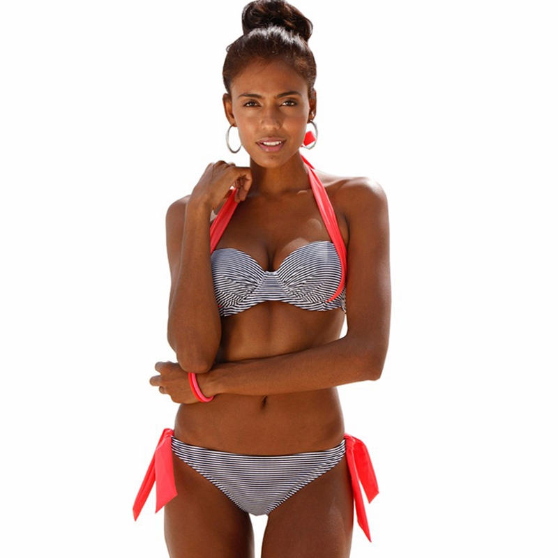 Swimwear Women Swimsuit Push Up Swimwear Female 19 Sexy Bandeau Bikini Ladies Brazilian Beach Bathing Suit bandage Bikini Set 37