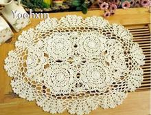Lace crochet table place mat cloth handmade cotton tea placemat Cup drink coaster round doily pad mug holder kitchen accessory(China)