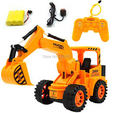 Four-way Remote Control R/C Wheeled Shovel Loader Tractor Kids Motorized Excavator Toy Gifts(China)