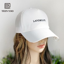 High Quality Curved Cap Peak Cotton Baseballcap With Metal Rings Solid Hiphop Fashion Lover's Hats Outdoor Sport Sunset TEENYOO(China)