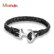 Buy MKENDN New Arrival Multilayer Charm Leather Anchor Bracelets Men Women Bracelet Male Wrap Metal Sport Hooks Summer Style for $1.81 in AliExpress store