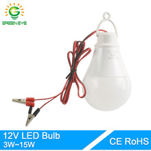 GreenEye Portable Hang Light Lamp With Clip DC 12V LED Bulb 3W 5W 7W 9W 12W 15W For Outdoor Party Camp Night Fishing Emergency