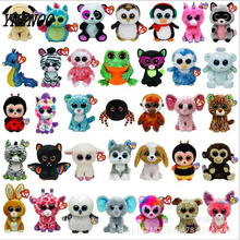 (YNYNOO)Ty Beanie Boos Big Eyes Small Unicorn Plush Toy Doll Kawaii Stuffed Animals Collection Lovely A wide variety of styles(China)