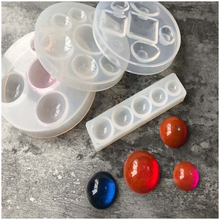 Crystal Glue Round Cabochon Moulds Silicone Mould Handmake Dome Craft DIYJewelry Tool(China)
