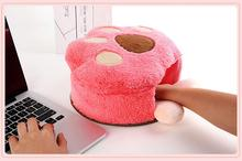 USB Warmer Mouse Pad Hello Kitty Cartoon Wrist Support Comfort Hand Warm Winter cojin de raton tapete de rato Totoro Mouse Pad