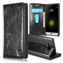 Luxury Brand Retro Wallet Coque LG G5 Case Genuine Leather + Magnetic Phone Case LG G5 Cover Flip Case For LG G5 Accessories(China)