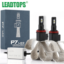 LEADTOPS Car Styling  Cars Headlights H4 LED H1 H7 H8 H9 H11 LED 9005 9006 880 881 LED 9600LM 6000K Headlamps Fog Bulb ED