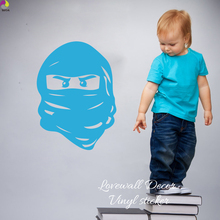 Cartoon Lego Ninjago Mask Wall Sticker Boy Room Baby Nursery Cute Ninja turtles Wall Decal Kids Room Children Room Vinyl Decor