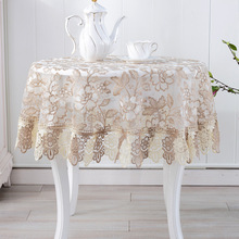 2018 new europe style floral embroidered table cloths lace tablecloth solid color table linen cloth towel cover overlay runners(China)