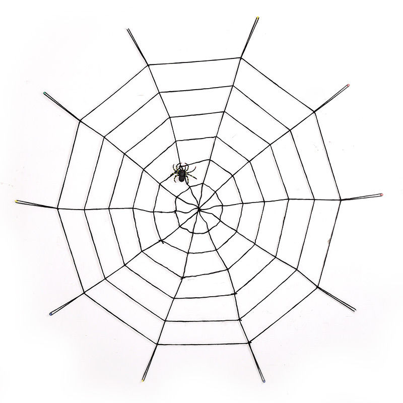 150cm spider web halloween scene layout cobwebs wool lines halloween decoration supplies fun toychina