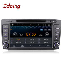 Idoing 2Din For Skoda Octavia 2 Steering-Wheel Android Car DVD Multimedia Video Player GPS Navigation Touch Screen mp3 bluetooth