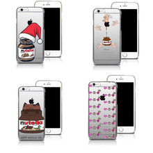 Chocolate Nutella Heart and Dream Catcher Pattern Mobile Phone Case For iphone SE 5 5S 6 6S 6SPlus Clear Cover
