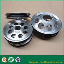Spray chrome oxide ceramic v-groove enamel copper wire pulley