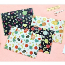 """Fruit Story"" File Folder Pack of 4 Plastic Document Study Working One Layer Cute Study School Bag"