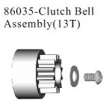 HSP part 86035 clutch bell assembly (13T) For 1/16th RC Buggy Car Truck Truggy model spare parts 94283 94285 94286 94287(China)
