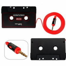 Car Cassette Casette Tape 3.5mm AUX Audio Adapter For iPod For iPhone MP3/4 CD Player 3.5mm Jack Plug  AUX Cable Universal