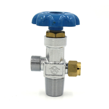 PCP Airfore Din Valve Oxygen Nitrogen Air Filling Valve Adapter High Pressure Refill Station Blue Model QF-2 for Steel Cylinder(China)