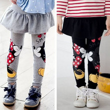 Baby Girls Leggings Winter 2016  Velvet Children Leggings Girls Pants Warm Character Kids Pantskirt Baby Girls Dress Leggings