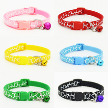 6 Colors New Arrival Fashion Nylon Small Dog Collars with Bells Pet Necklace Puppy Kitten Cat Collars Free Shipping