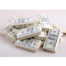 100 Dollar Toilet Tissue Paper Napkin Printing Natural Comfort Funny Personality Party Popular Wipe(China)