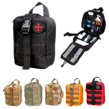 Vpanda Nylon First Aid Bag Tactical Molle Medical Pouch EMT Emergency EDC Rip-Away Survival IFAK Utility Car First Aid Bag(Hong Kong)