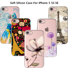 For iPhone5 SE Best Pattern Bus Cup Silicon Phone Shell Cover For Apple iPhone 5 iPhone 5S iPhone5S Case Cases 2017 Newest Hot