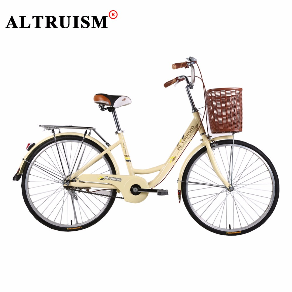 altruism q3 city bike 24 inches bicycle city leisure commuter bike rear drum brake bicycle for