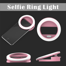 Rechargeable Led Ring Light for Dimmable Fill light Photography Lighting Ring for iPhone ipad Samsung Sony Huawei Smartphone