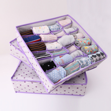 Butihome 3 Pcs/set Sock Bra Storage Box Cell Folding Case Non-Woven Fabric Folding Storage Box Closet Drawer Divider Case