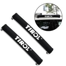 1 Pair Universal Car TIROL Oxford Car Roof Rack Pads Inflatable Padded Crossbar Roof Cover Luggage Carrier Protective Car Rack