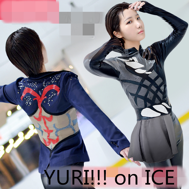 Japan Anime YURI!!! on ICE Yuri Katsuki Free Skating Grand Prix Racing Suit Uniform Cosplay Costume