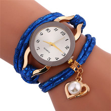 Relogio Feminino Watch Stylish Simplicity Chimes Leather Bracelet Lady Womans Wrist Watch Wholesale Brand New N 50(China)