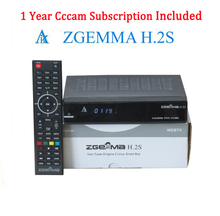 Zgemma Star H.2S Satellite Receiver +1 Year Spain Portugal UK Germany Cccam 2000 DMIPS CPU PROCESSOR Linux OS DVB-S2 Twin Tuners