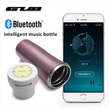 hot sale unique design bluetooth bike water bottle intelligent music vacuum cup safe material fit for android IOS system phone(China)