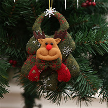 Christmas Santa Claus Snowmen Elk Bear Doll Toy Christmas Tree Ornaments Decoration Exquisite For Xmas Happy