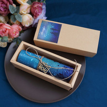 50pcs Personalized custom wedding invitation cards luxury blue star style Retro kraft paper wedding invitation cards
