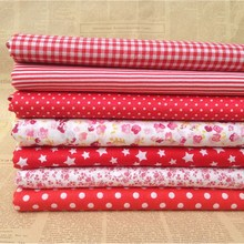 7Pcs/Lot Patchwork Accessories Cotton Fabric Telas Patchwork Fabric Doll Clothing for Sewing Patchwork Sewing Fabrics DIY Crafts(China)