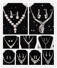 Classic Bride Jewelry Sets Crystal Rhinestone Necklace Bride Acessory drop Shipping