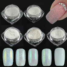 5 bottle Micro Sugar Holographic Nail Glitter Powder Dust 3D Shinning Nail Tips Pigment Beauty Salon Nail Art Set CHTY01-05