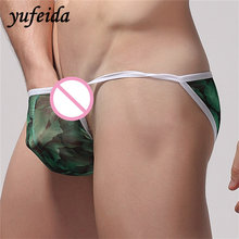 Buy Yufeida Men's Low Waist Briefs Printing Floral Series Sexy Men's Thong Briefs Underpants Underwear