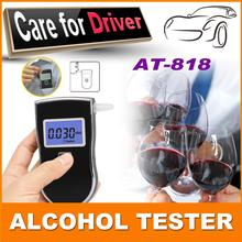2015 NEW Hot! Professional Police Digital Breath Alcohol Tester Portable Breathalyzer Detector Dual LCD Display Free Shipping