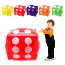 Portable Multi Color 30cm Inflatable Blow-Up Cube PVC Dice Toy Stage Prop Group Game Tool
